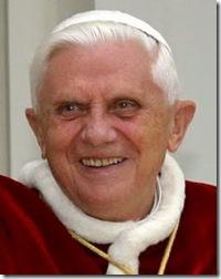 Pope Benedict XVI smiling