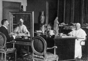 Pope Pius X in his study