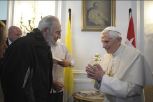 Pope Benedict XVI meets with Fidel Castro