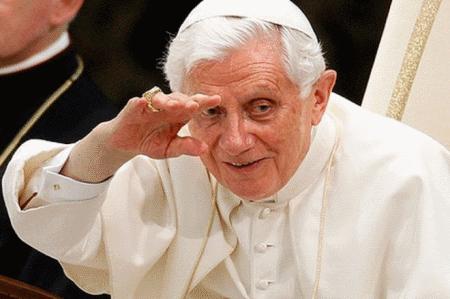 Pope Benedict XVI Wave