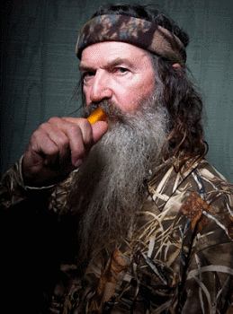 Phil Robertson, head of the Robertson clan and creator of the Duck Commander duck call.